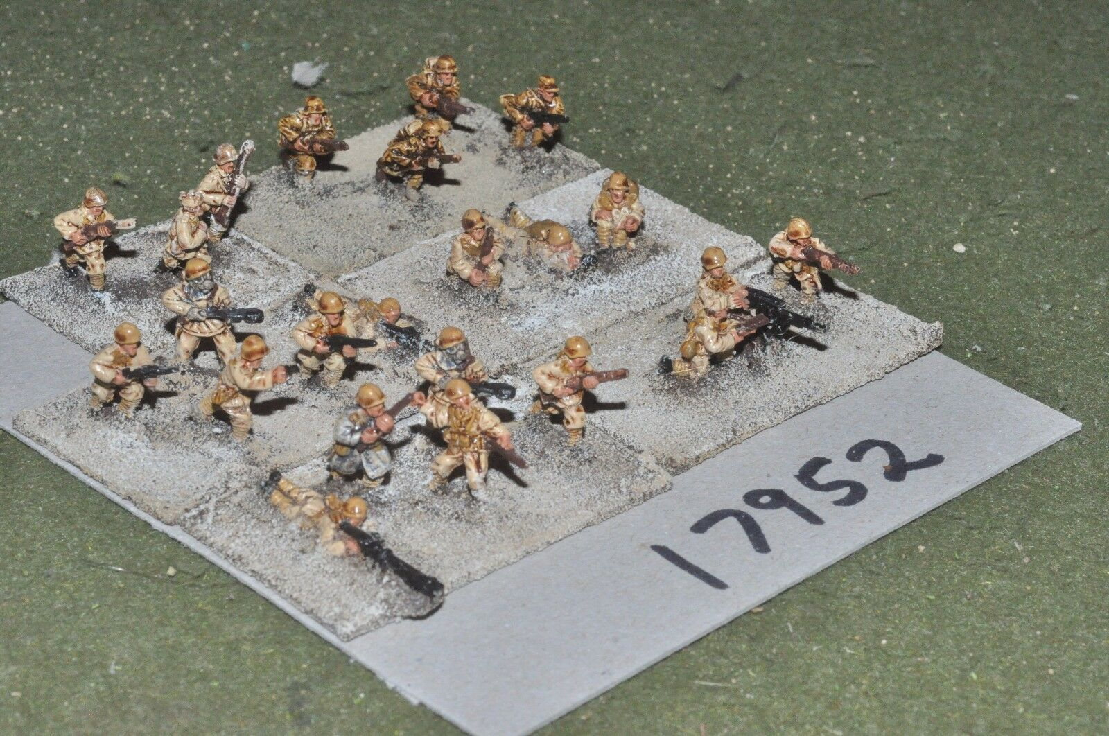 15mm WW2   italian - n. african campaign infantry 23 figs - inf (17952)