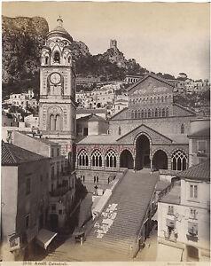 Cattedrale Amalfi Italia Foto Sommer Vintage Albumina Ca 1880
