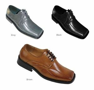 Image Is Loading Men 039 S Solid Dress Shoes Man Made