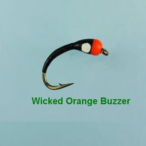 WICKED ORANGE BUZZER TROUT FLY size 12