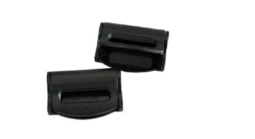 BLACK FORD Seat Belts Safety Adjustable Stopper Buckle Plastic Clips 2PCS