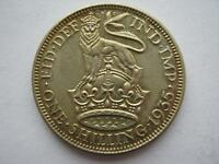 1935 George V silver shilling, A UNC.