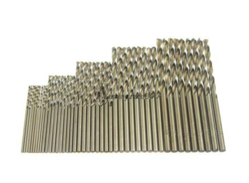 50 PCS Cobalt Drill Bit Set 1-3MM for Drilling on Hardened Steel Tools Cast Iron