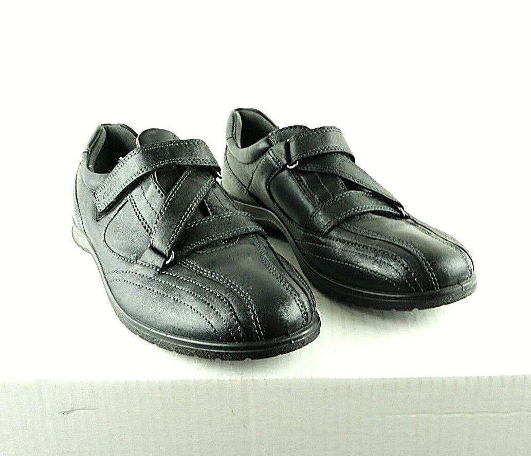 Ecco chaussures Femme Sz 8-8.5 US 39 EU choc Point chaussures noire avec sangles