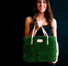 "Kate Spade ""Hold Court Quinn"" Tennis Astro Turf gold Grass Court Handbag + COIN"