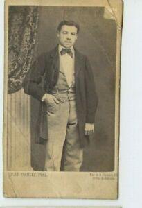Vintage-CDV-Handsome-Parisian-Man-Hale-Francay-Photo-Paris