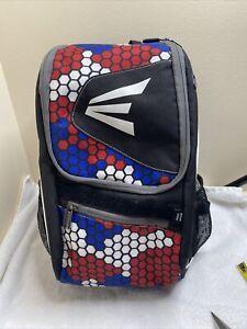 Easton E100P Youth Baseball/Softball 2 Bat Backpack/Bag Black, Red & Gray EUC