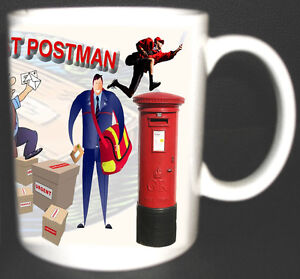 THE WORLDS BEST POSTMAN MUG. LIMITED EDITION.FUNNY GIFT