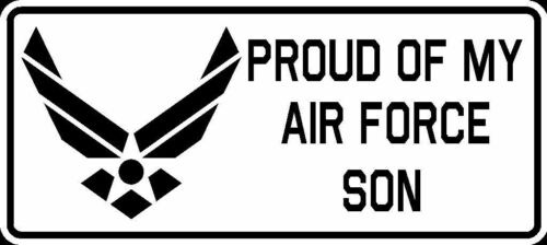 Proud of My Air Force Son Vinyl Car Window Decal Bumper Sticker US Seller