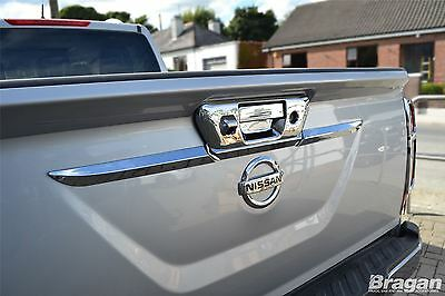 To Fit 2016 Nissan Navara Np300 Chrome Rear Boot Door