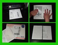 3000 Labels Paypal/ebay/usps Shipping W/ Tear Off Paper Receipt 4 Laser Inkjet
