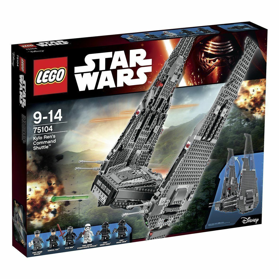 LEGO STAR WARS 9-14 ANNI KYLO REN COMMAND SHUTTLE ART 75104