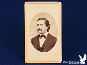 Austen-amp-Oliver-Oswego-NY-CDV-Photo-Portrait-Man-Great-Mustache-Bow-Tie-Vest