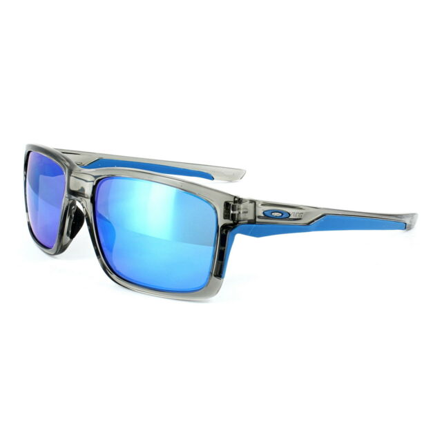 ebab8ca8356 Oakley Mainlink Sunglasses in Grey Ink Sapphire Iridium Oo9264-03 ...