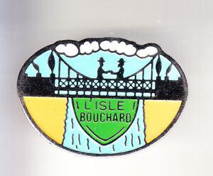 RARE-PINS-PIN-039-S-TOURISME-PONT-BRIDGE-INDRE-LOIRE-L-039-ISLE-BOUCHARD-37-B9