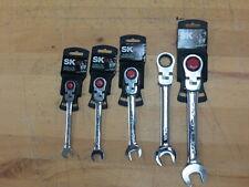 5 Pc Sk Tools Locking Flex Sae Ratcheting Combination Wrench Set 1132 34