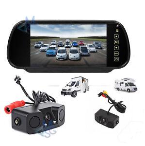 Kit-Retromarcia-Specchietto-7-034-Retrocamera-Doppio-Sensore-di-Parcheggio-Auto