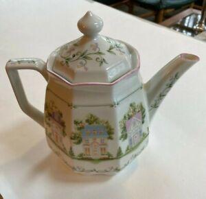Lenox-Village-1995-Porcelain-Coffeepot-NWOT-Handcrafted-in-Japan