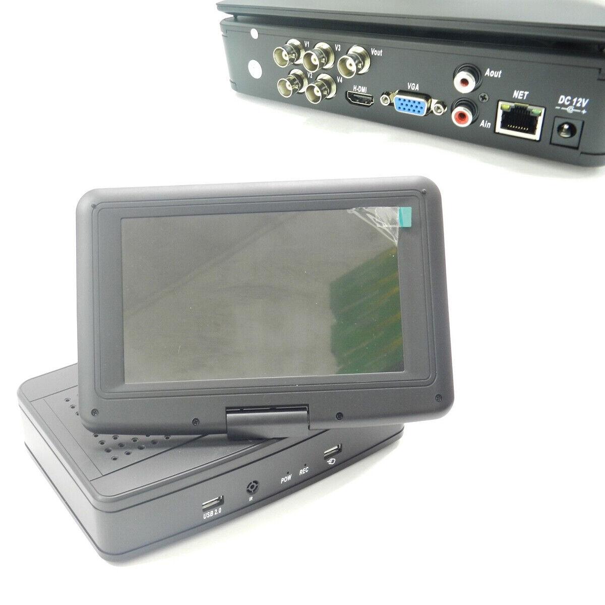 DVR CON MONITOR 4 CANALI PER VIDEOSORVEGLIANZA REGISTRA LAN 3G SMARTPHONE REMOTO