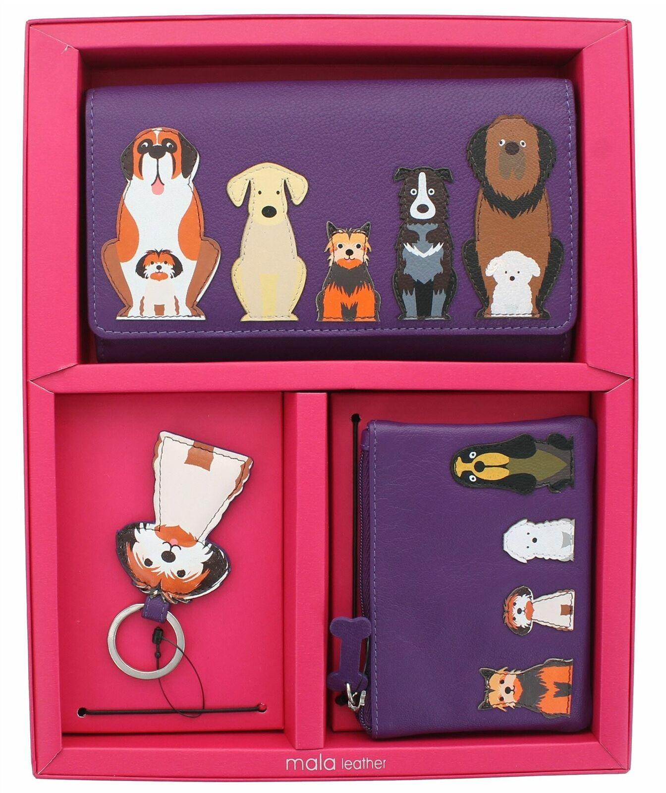 Mala Leather Boxed Gift Set Dog GS 009