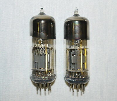 6N6P = 6Н6П = ECC99 = E182CC Doppel Amp Triode TESTED RUSSIAN TUBE NOS, LOT OF 2
