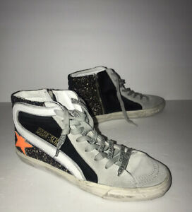 Glitter Suede High-Top Sneakers Size