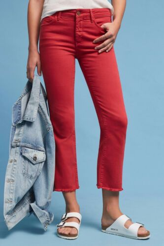 Details about  /NWT ANTHROPOLOGIE SCRIPT HIGH-RISE CROPPED FLARES by PILCRO 31P