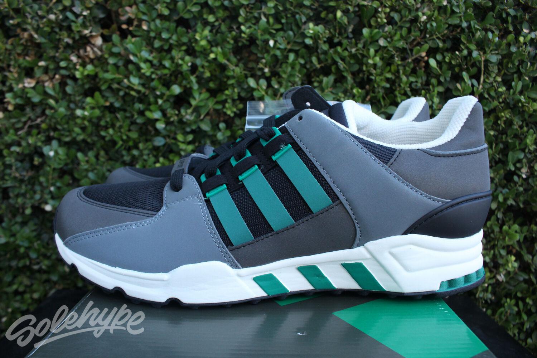 adidas eqt bekommen unterstützung sz 11 schwarz / grün kreidebleich ausrüstung s32144