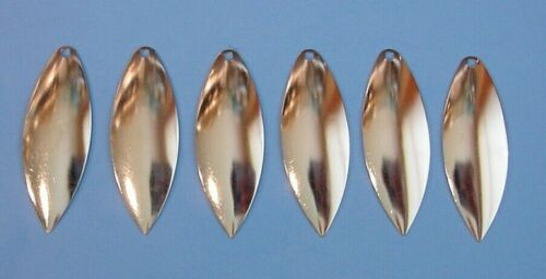 Worth Mfg Size #6 Nickel Willow Leaf Spinnerbait Blades Lot of 6