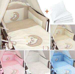6 Teiliges Baby Bettwäsche Set Passend Zu Gitter Kinderbett 120x60