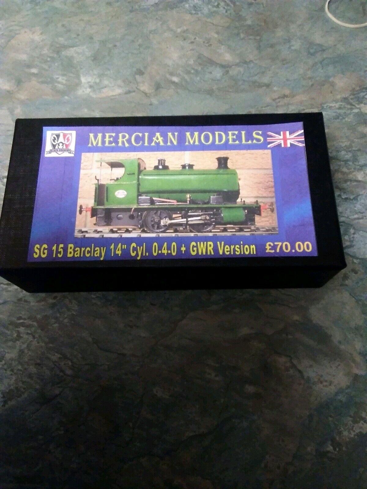 4mm Barclay 14  0-4-0ost GWR Version. Nickel Kit.