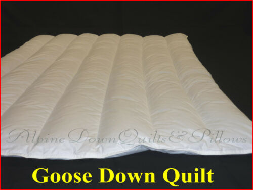 90% EUROPEAN GOOSE DOWN QUILT KING SIZE 4 BLANKET WARMTH DUVET 100% COTTON COVER