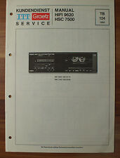HIFI9620 HSC7500 ITT Graetz Service Kundendienst Service Manual