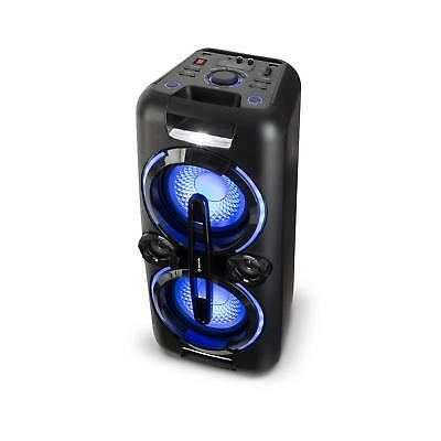 Party Stereoanlage mobile Boombox Lautsprecher USB Bluetooth MP3 Radio Akku Box