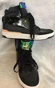 30138f89dabc Image is loading Puma-Sneaker-Alexander-Mcqueen-Black-And-Green-Neon-