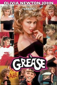 GREASE-SANDY-COLLAGE-24x36-MOVIE-POSTER-Olivia-Newton-John-NEW-ROLLED