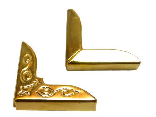 Buchecken 26mm Goldfarben Metallecken für Bücher Speisekarten Schmuckecken C-080