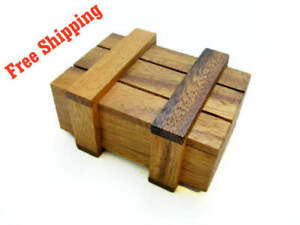Details About Treasure Box Wooden Puzzle Game Strategy Game Brain Teaser Travel Size New