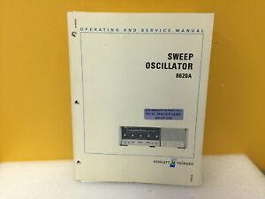 HP  Hewlett Packard 8620A Sweep Oscillator Operating /& Service Manual