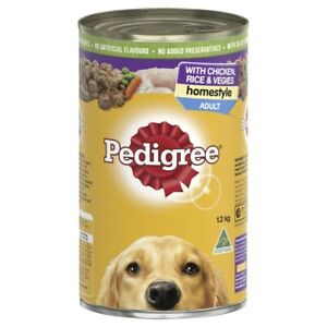 Pedigree Homestyle Chicken With Rice & Vegies Adult Wet Dog Food Can 1.2Kg