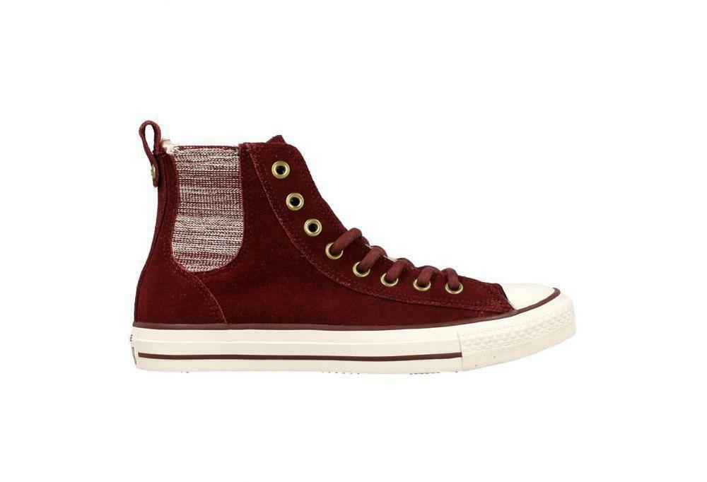 femmes  CONVERSE CT CHELSEE BORDEAU Suede Winter with Fur Trainers 549598C