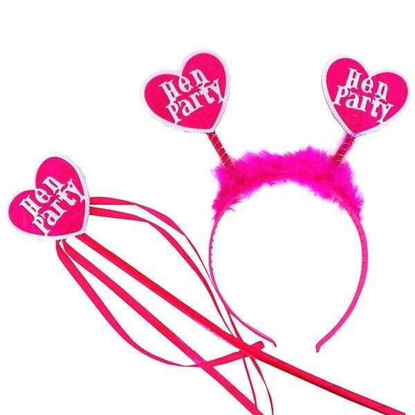 Pink Heart 'Hen Party' Hen Night Set Fun Costume Accessory