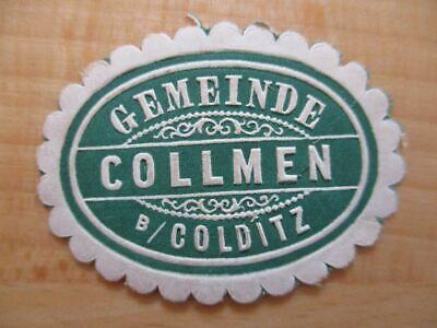 Siegelmarke 21087 Colditz Gemeinde Collmen B Aufstrebend