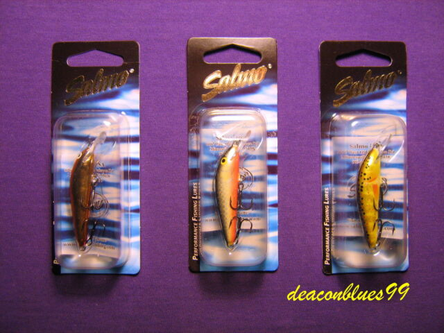Trout Lot of 3 Salmo 5F Floating Minnows in 3 Different Colors Bass Crappie