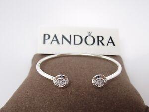 4448ab131 New Pandora Signature Open Bangle w/ CZ's #590528CZ Box Available ...