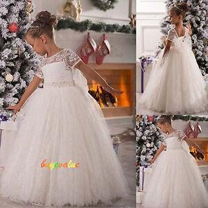 f5baf2f79baee robes de fille robe enfant robe filles de fleurs de mariage blanc ...