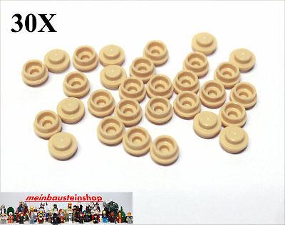 Laborioso 30x Lego ® 6141/4073 Piastre Rotonde Round Plate 1x1 Beige Tan Nuovo-mostra Il Titolo Originale Long Performance Life