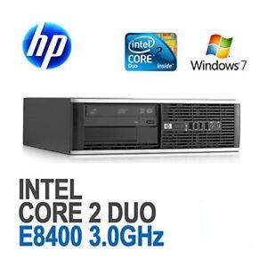 HP-ELITE-8000-SFF-PC-COMPUTER-Intel-Core-2-Duo-E8400-16GB-HD-250GB-WINDOWS-7