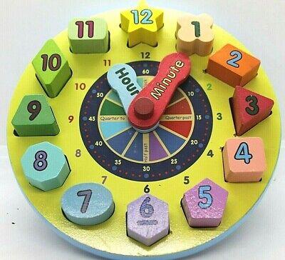 Melissa and Doug Wooden Shape Sorting Clock   eBay