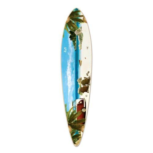 Yocaher Pintail Getaway Longboard Deck
